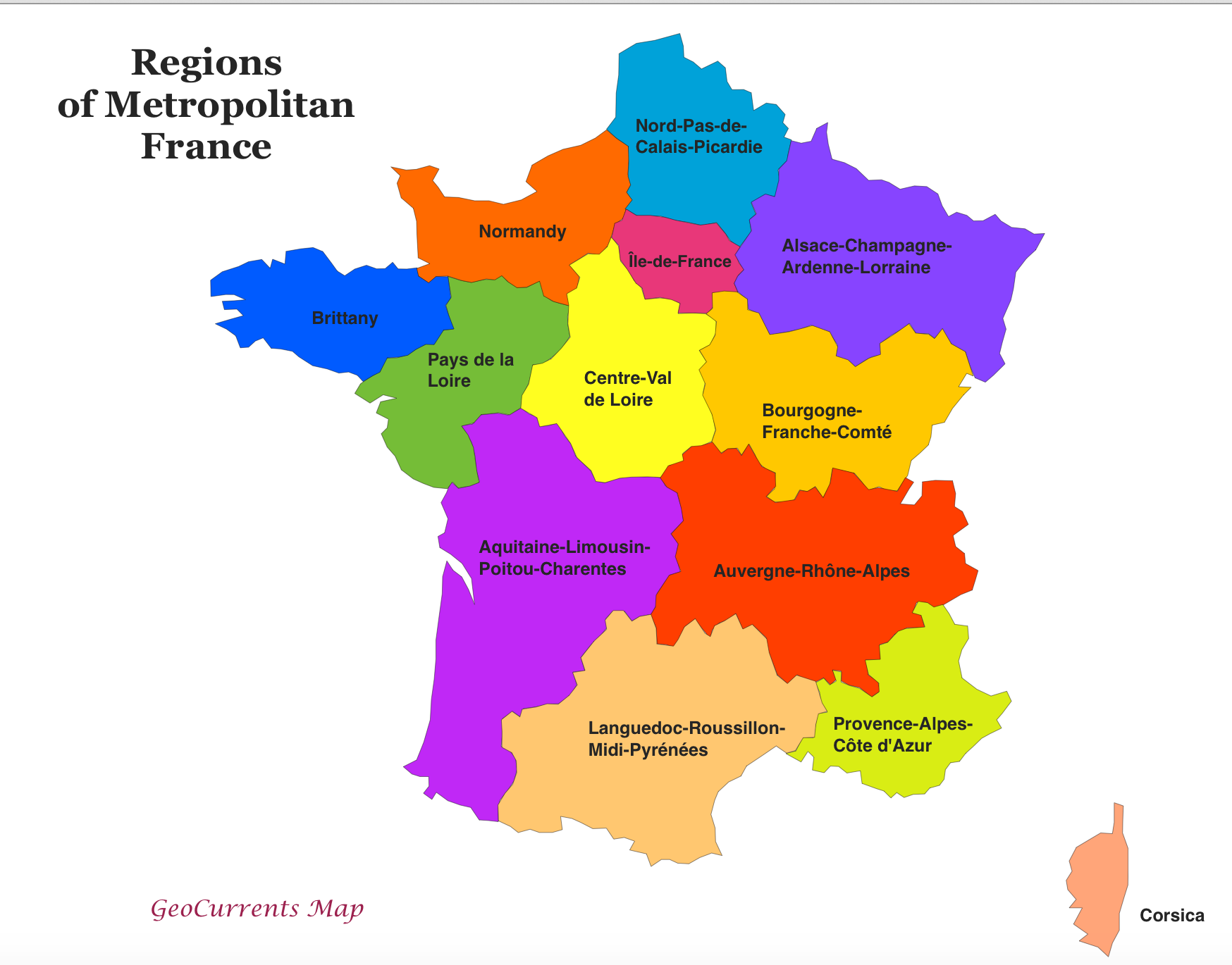 Region Of France Map Regions of France Map | Assembly of European Regions