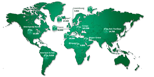 BNP Paribas map