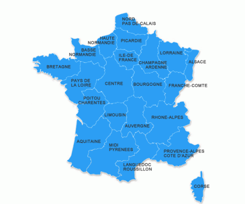 Map Of Regions France.Carte Regions France Assembly Of European Regions