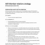 AER Member relations strategy