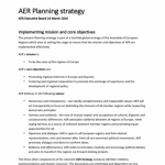 AER Planning Strategy
