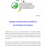 Message from Bianca Miruna Gavrilita new President of Eurodyssey