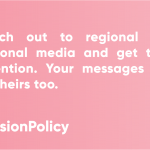 #CohesionPolicyTips – Get the attention of the regional media