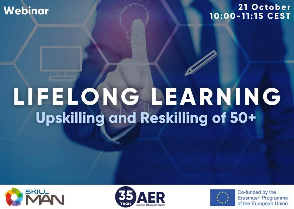 Join the webinar on lifelong learning: upskilling and re-skilling of 50+
