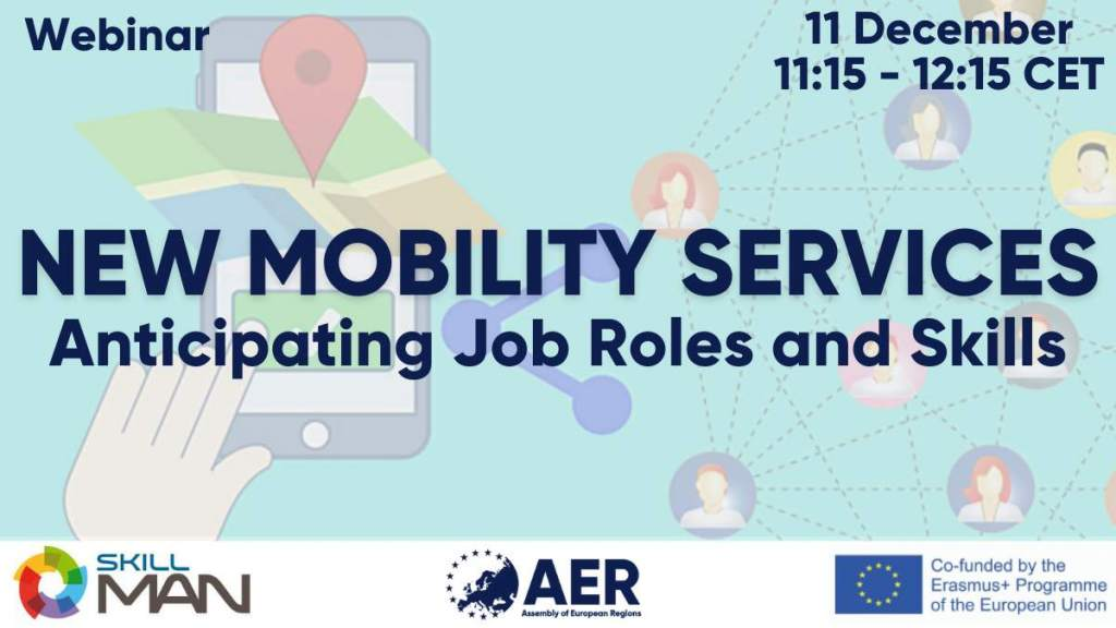 "Join the webinar on ""New mobility services: Anticipating skills and job roles"""