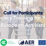 EXTENDED - Call for Participants: Advocacy Training for Young European Activists