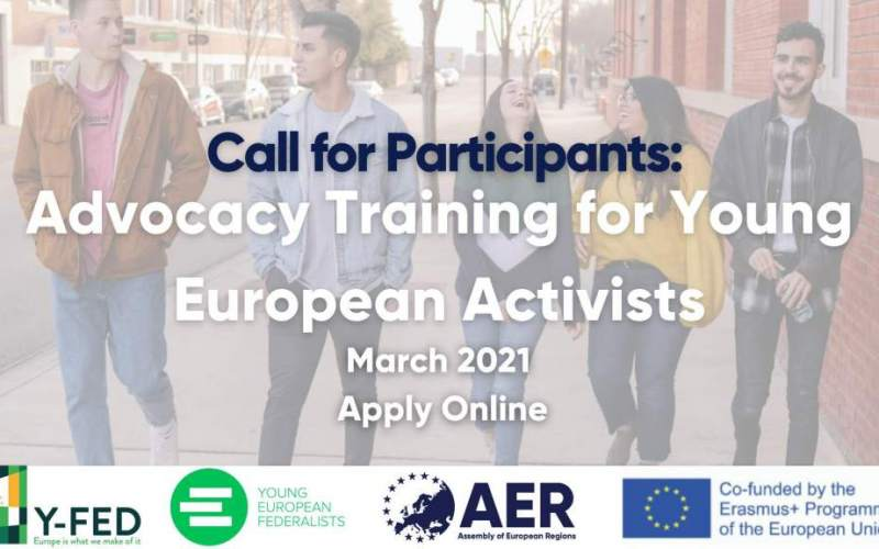 EXTENDED – Call for Participants: Advocacy Training for Young European Activists