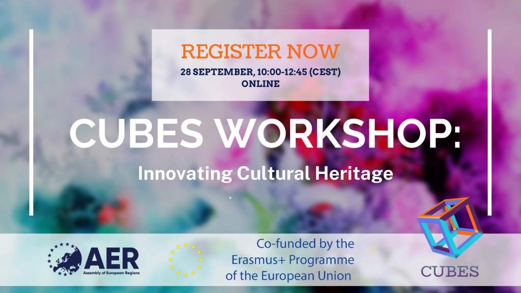 REGISTRATIONS OPEN: Innovating Cultural Heritage, a Workshop by AER and CUBES